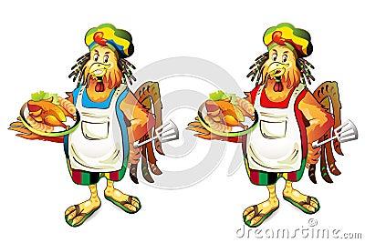 Cartoon cook coconut