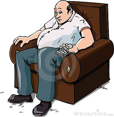 Cartoon of a Couch Potatoe