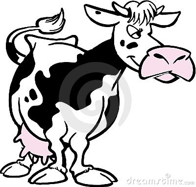 Free Cartoon Cow Stock Photo - 7415450