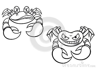 Cartoon crabs