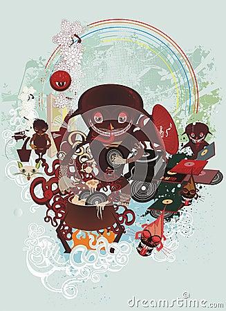 cartoon creatures cooking