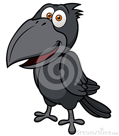 Free Cartoon Crow Royalty Free Stock Photography - 30595667