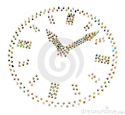 Cartoon Crowd, Clock
