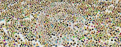 Cartoon Crowd, Figure Field