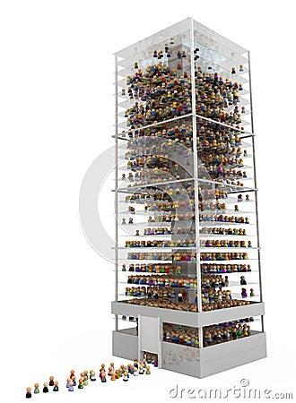 Cartoon Crowd, Skyscraper