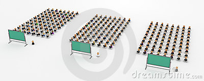 Cartoon Crowd, Teaching Computer Classes