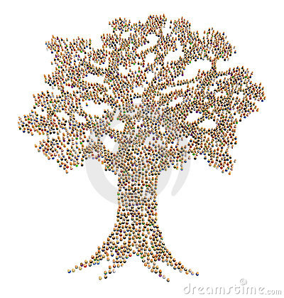 Cartoon Crowd, Tree