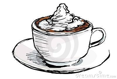 Cartoon Of Cup Of Coffee With Cream Royalty Free Stock Image - Image ...