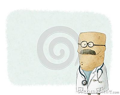 Cartoon cute doctor