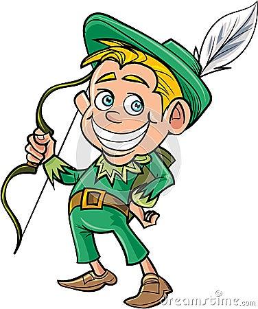 Free Cartoon Cute Robin Hood Stock Photo - 49587840