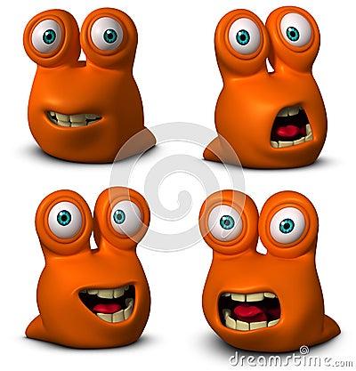 Free Cartoon Cute Worm Stock Image - 27336651
