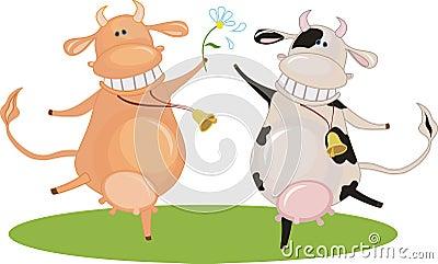 Cartoon dancing cow