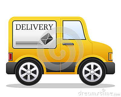 Cartoon Delivery Van