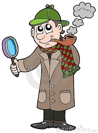 Cartoon Detective Royalty Free Stock Images - Image: 7846479