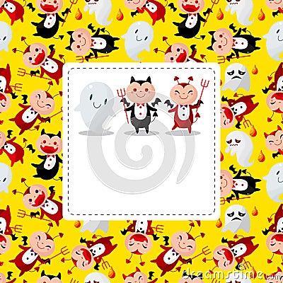 Cartoon devil card