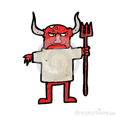 cartoon devil man