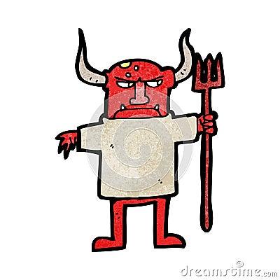 cartoon devil man