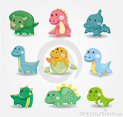 Cartoon dinosaur icon