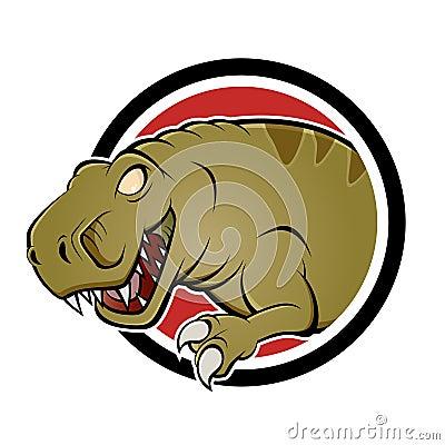 Cartoon dinosaur sign