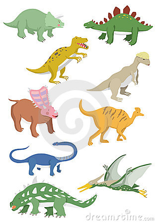 Cartoon dinosaurs icon