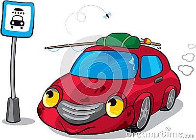 Cartoon Dirty Car