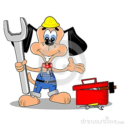 Cartoon DIY repair man