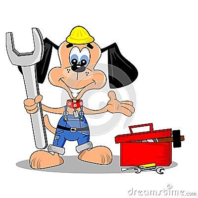Cartoon DIY repair man