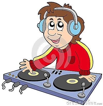 Free Cartoon DJ Boy Stock Photography - 11545572