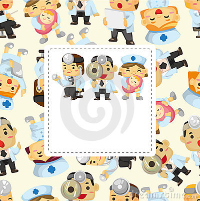 Cartoon Doctor And Nurse Card Royalty Free Image Image – Happy Birthday Card for Doctor