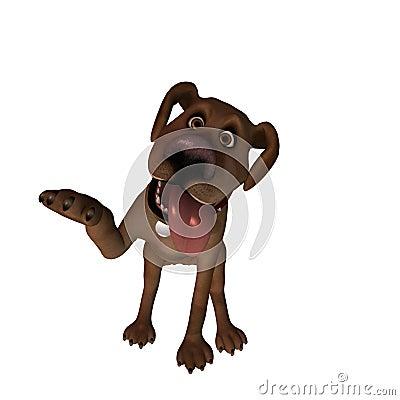 Cartoon Dog - Beg / Shake