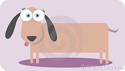 Cartoon dog with big eye