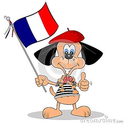 Cartoon Dog from France