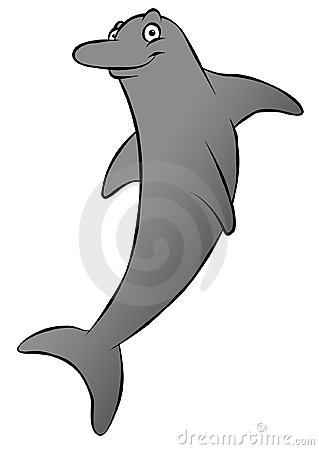 Cartoon Dolphin