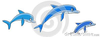 Cartoon dolphins