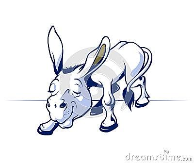 Cartoon donkey smile