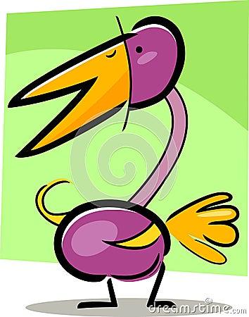 Cartoon doodle of bird