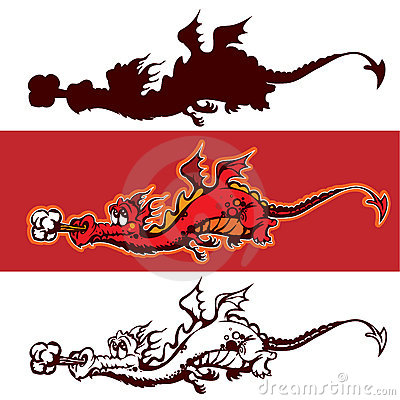 Cartoon dragon