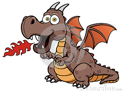 Cartoon dragon fire