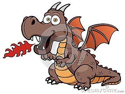 Cartoon dragon fire