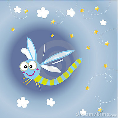 Free Cartoon Dragonfly Stock Images - 8148374