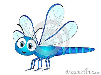 Cartoon Dragonfly Clip Art Stock Vector - Image: 84822180