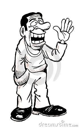 Cartoon Man Laughing Royalty Free Stock Images - Image: 32004469
