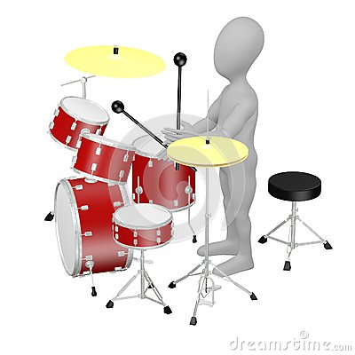 Cartoon drummer
