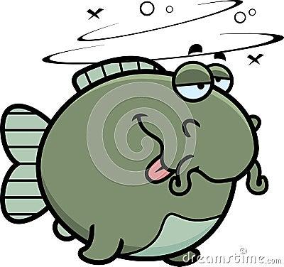 Cartoon Drunk Catfish Stock Vector - Image: 47412761