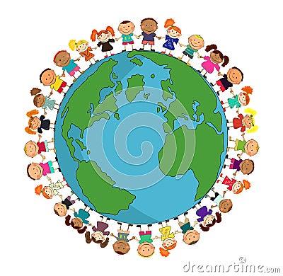 IMAGE: http://www.dreamstime.com/cartoon-earth-with-kids-thumb14053648.jpg