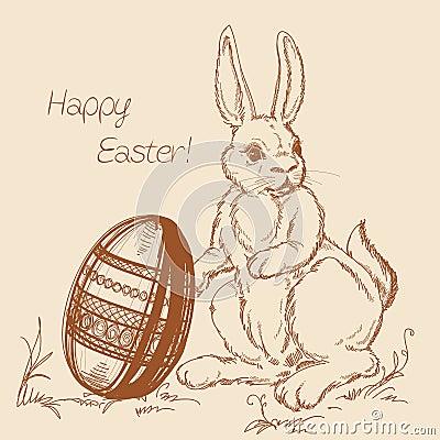 Cartoon Easter scene