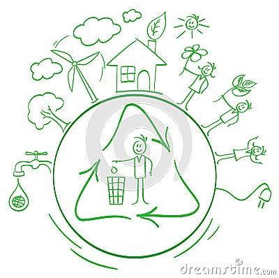Cartoon eco packing set