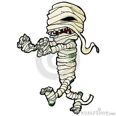 Cartoon Egyptian mummy