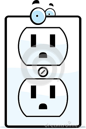 Cartoon Electrical Outlet Stock Vector Image 41819721