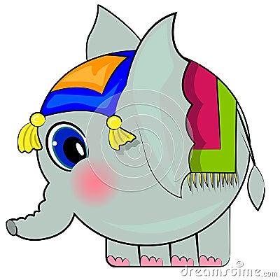 Cartoon elephant. funny indian elephant